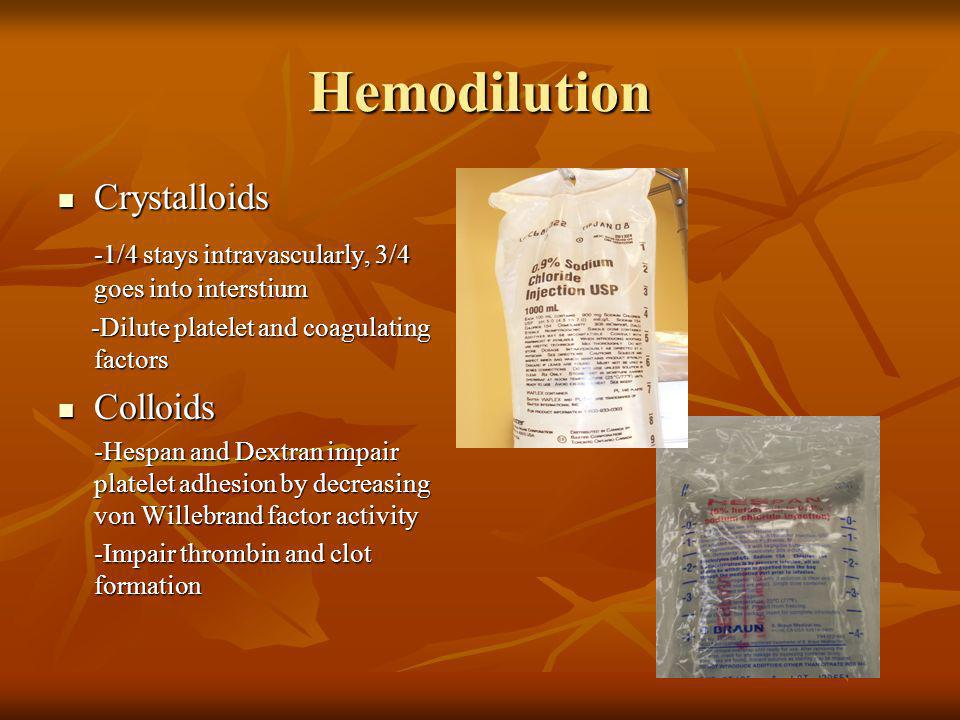 Hemodilution Crystalloids