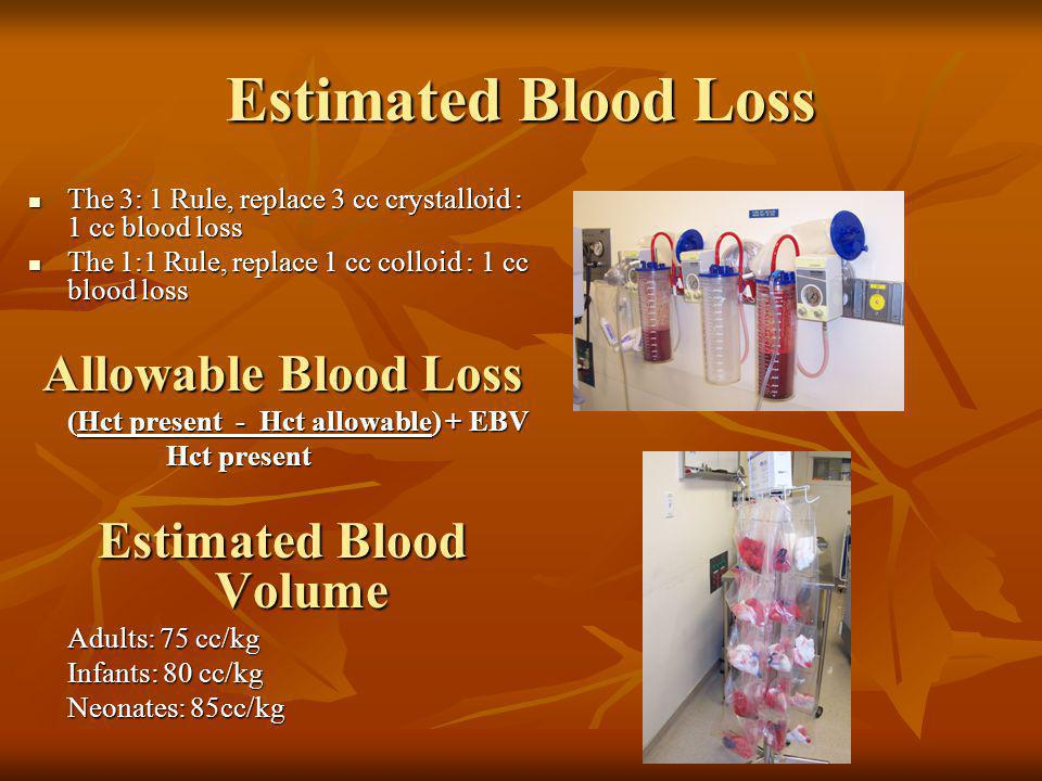 Estimated Blood Volume