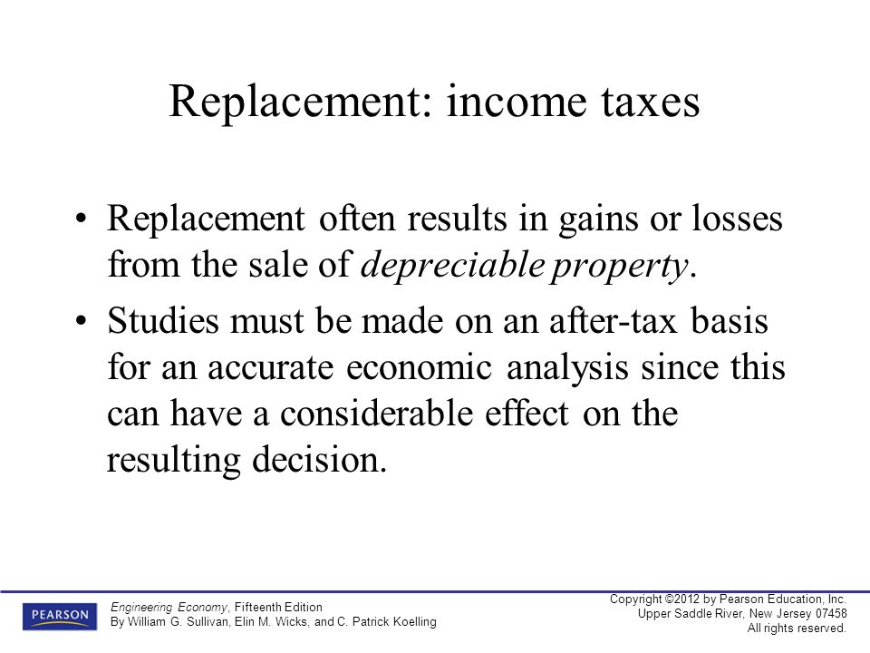 Replacement: income taxes
