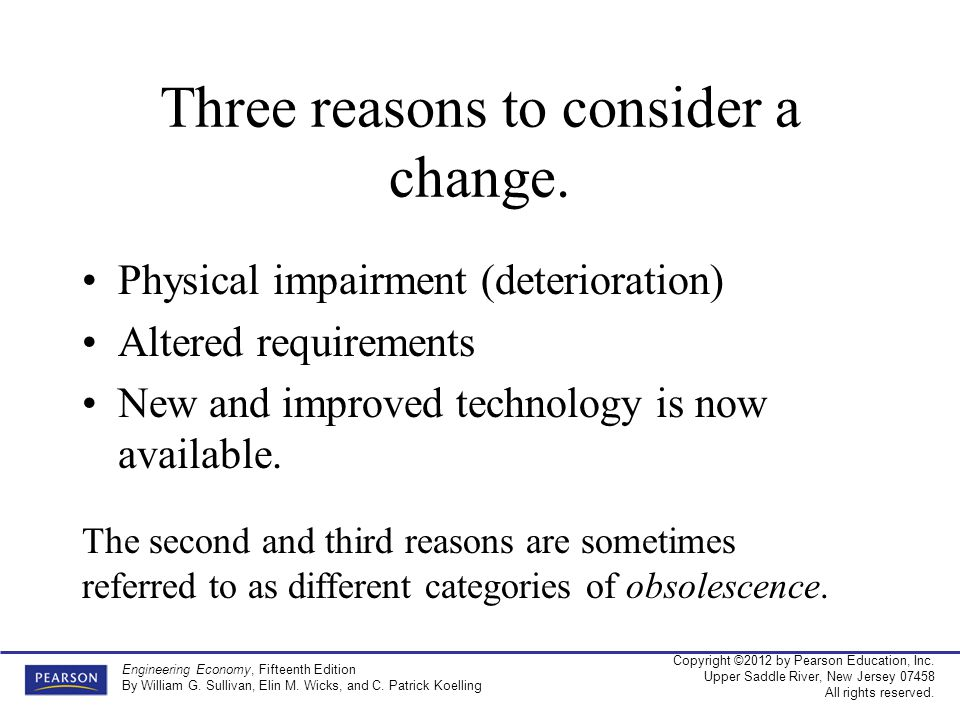 Three reasons to consider a change.
