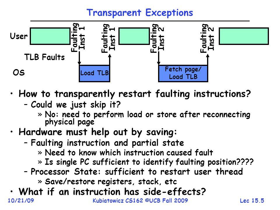 Transparent Exceptions