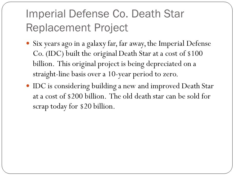 Imperial Defense Co. Death Star Replacement Project