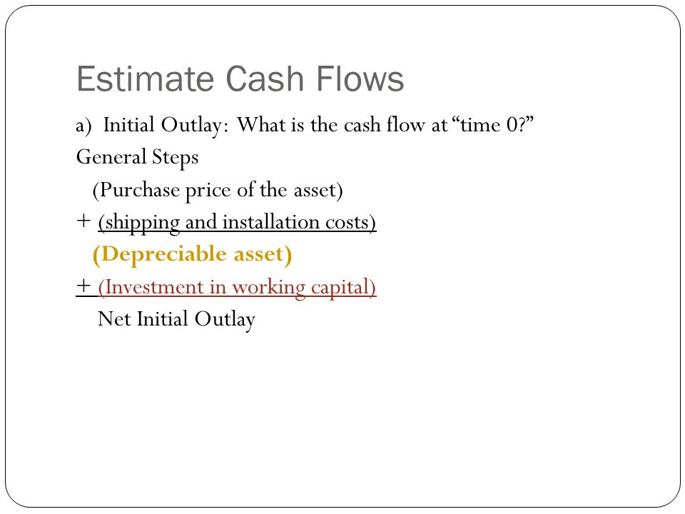 Estimate Cash Flows