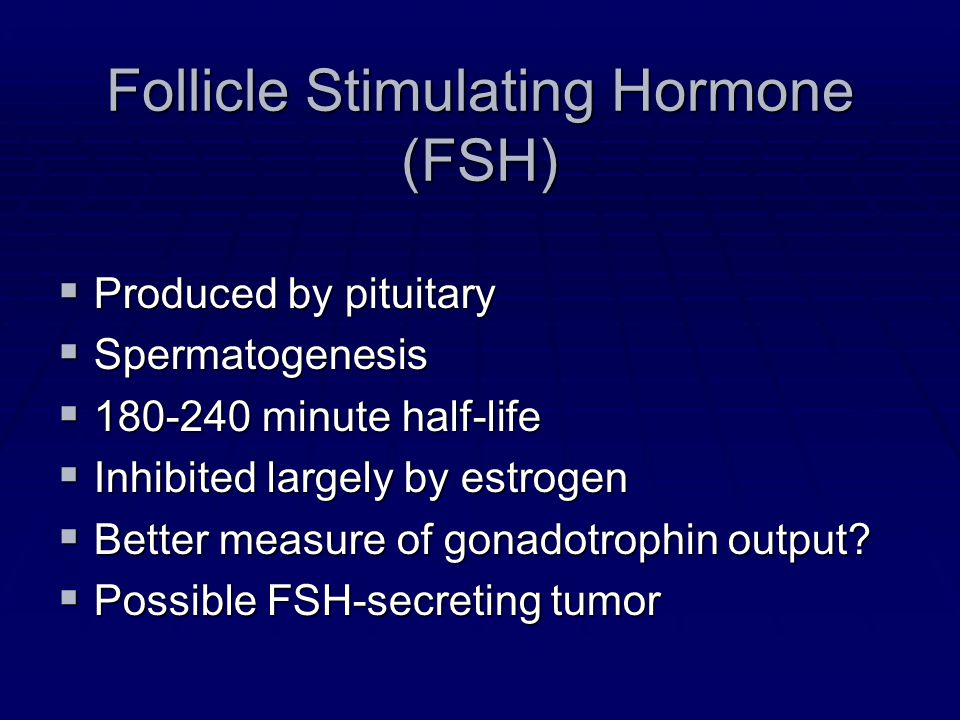 Follicle Stimulating Hormone (FSH)