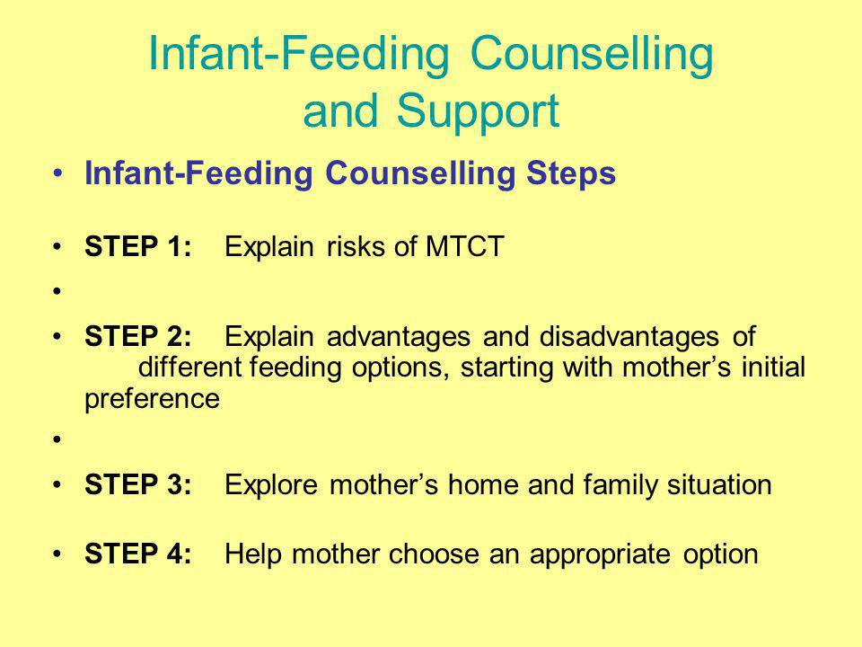 Infant-Feeding Counselling and Support