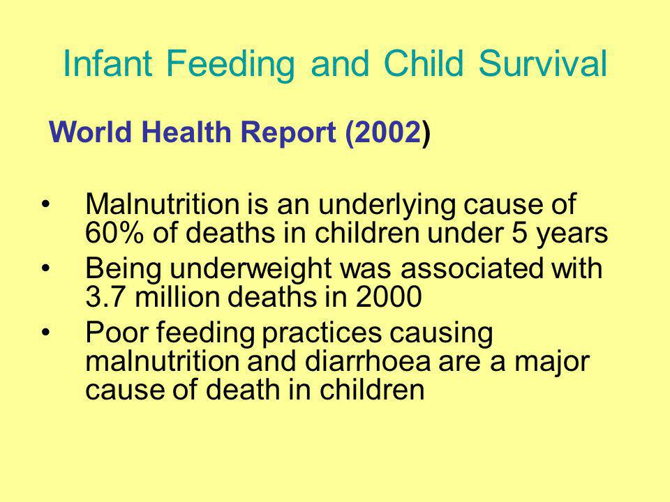Infant Feeding and Child Survival