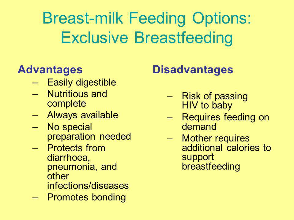 Breast-milk Feeding Options: Exclusive Breastfeeding