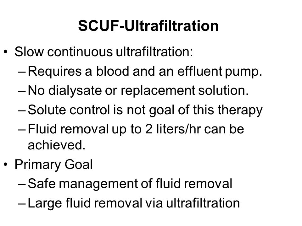 SCUF-Ultrafiltration