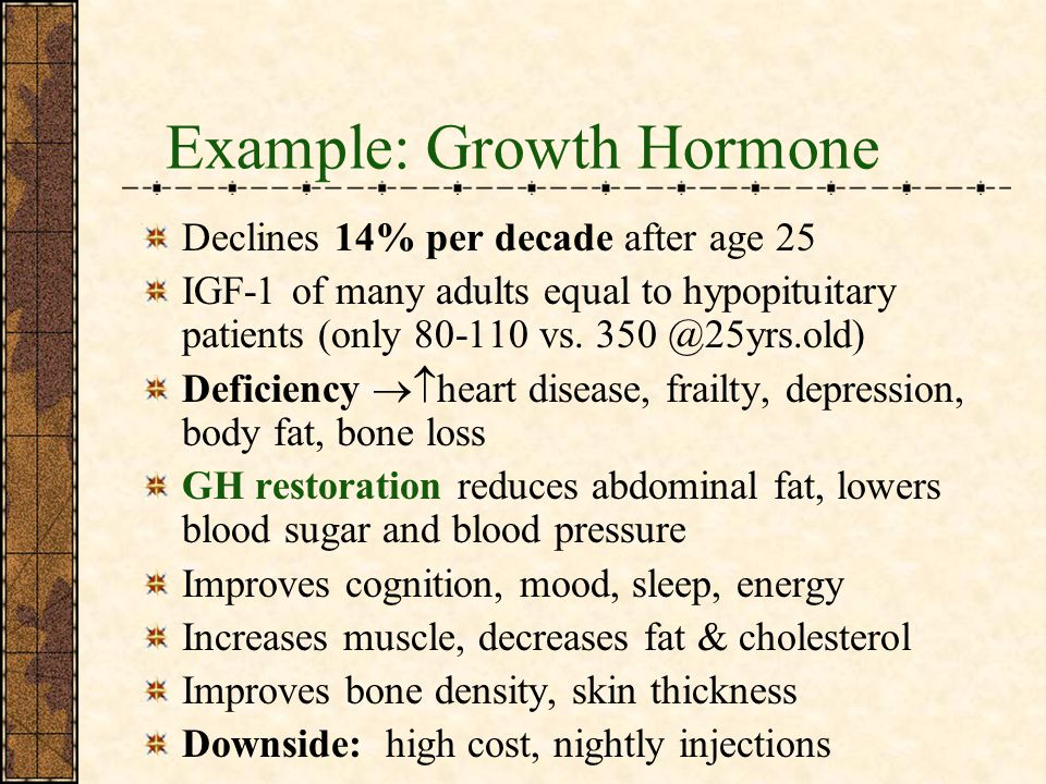 Example: Growth Hormone