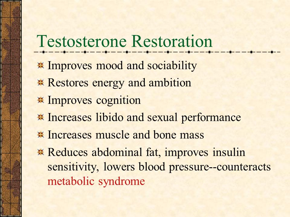Testosterone Restoration