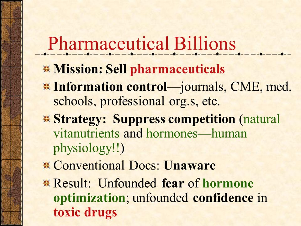 Pharmaceutical Billions