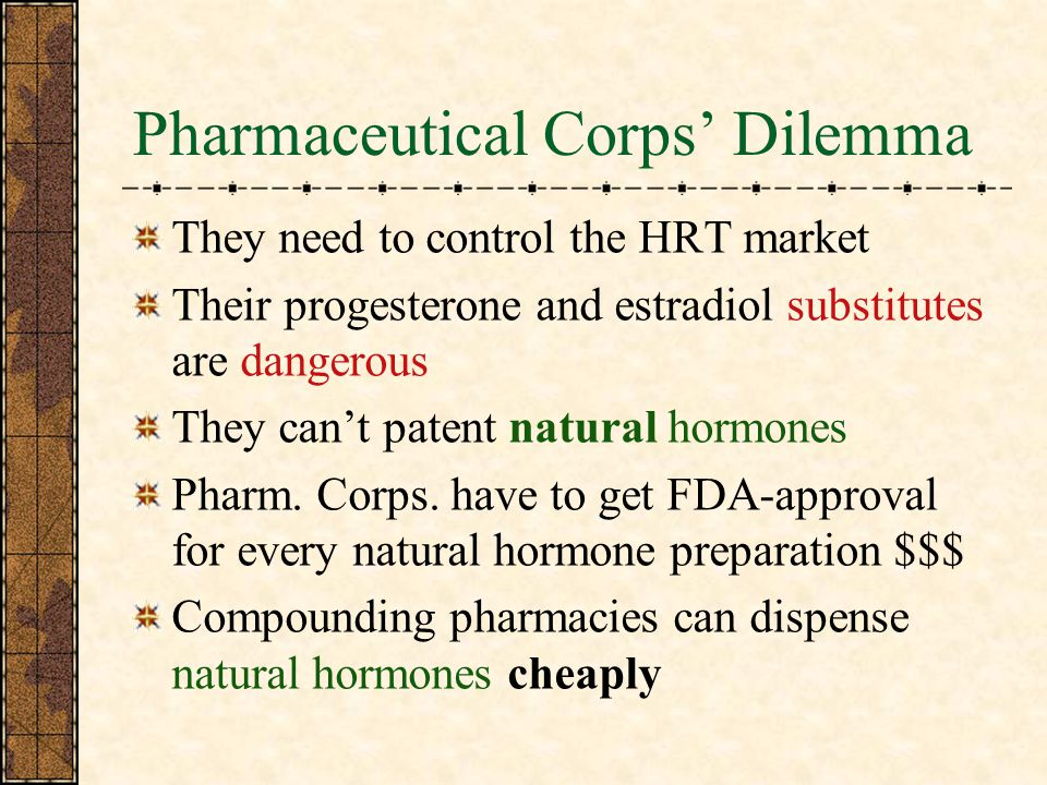 Pharmaceutical Corps' Dilemma