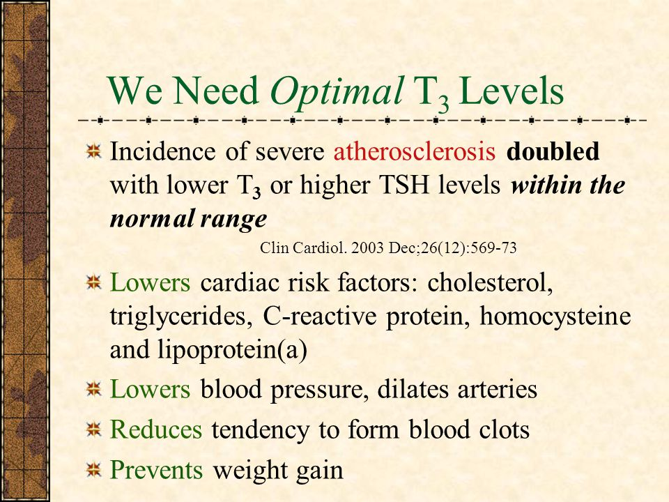 We Need Optimal T3 Levels
