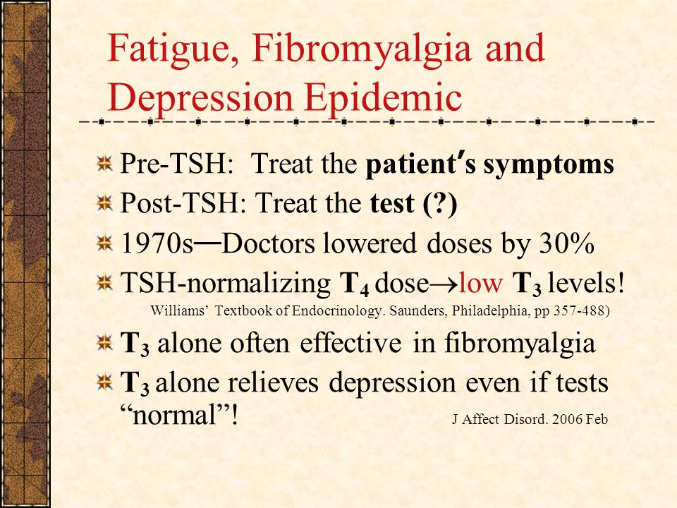 Fatigue, Fibromyalgia and Depression Epidemic
