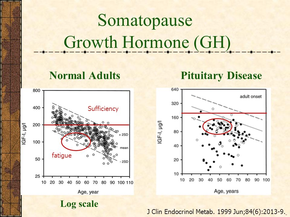 Somatopause Growth Hormone (GH) Normal Adults Pituitary Disease