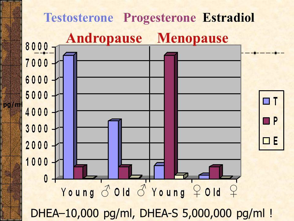 Andropause Menopause Testosterone Progesterone Estradiol ♂ ♂ ♀ ♀