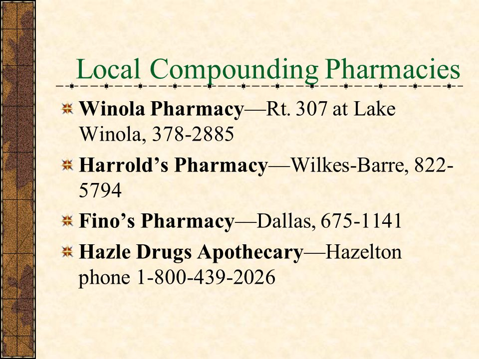 Local Compounding Pharmacies