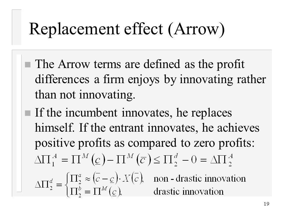 Replacement effect (Arrow)