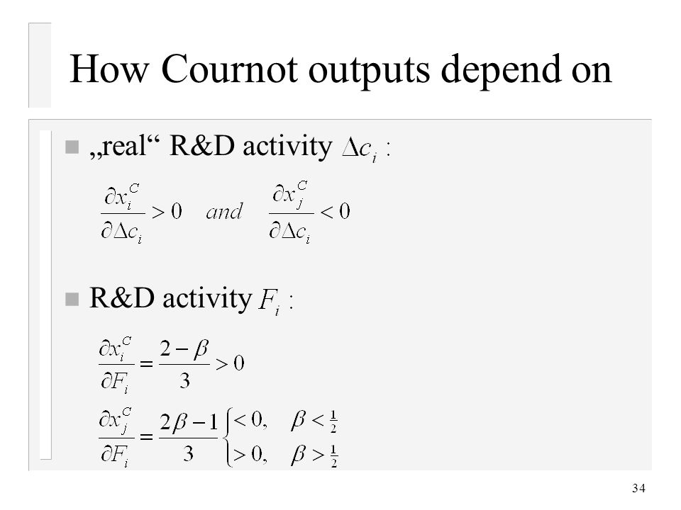 How Cournot outputs depend on