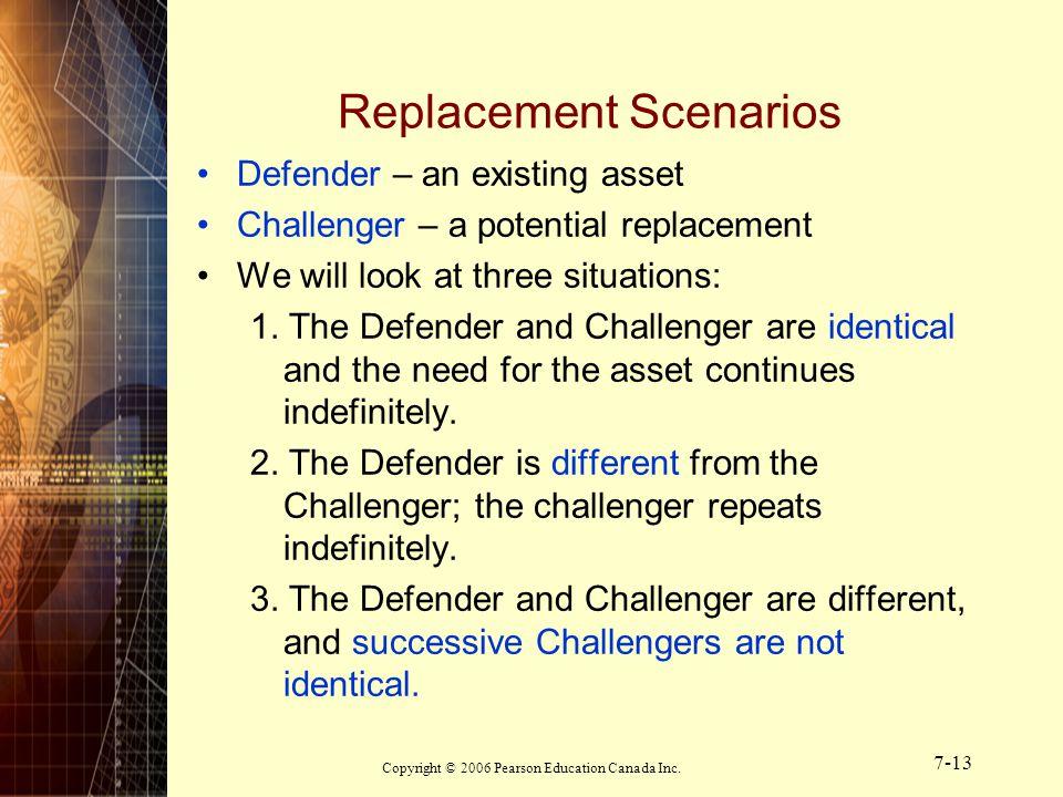Replacement Scenarios