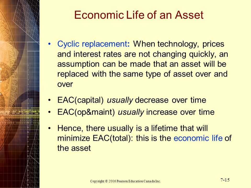 Economic Life of an Asset