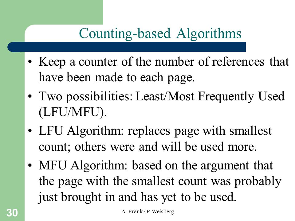 Counting-based Algorithms