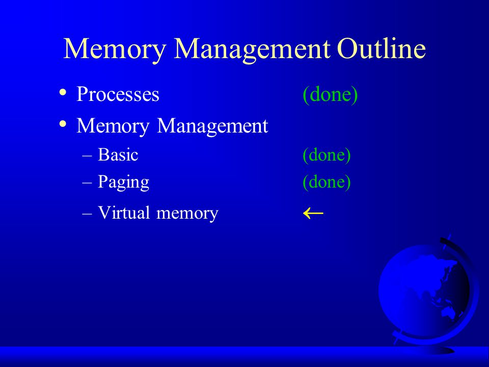 Memory Management Outline