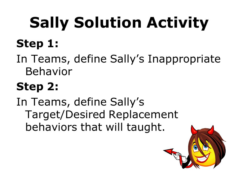 Sally Solution Activity