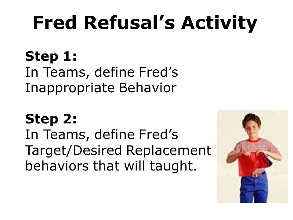 Fred Refusal's Activity