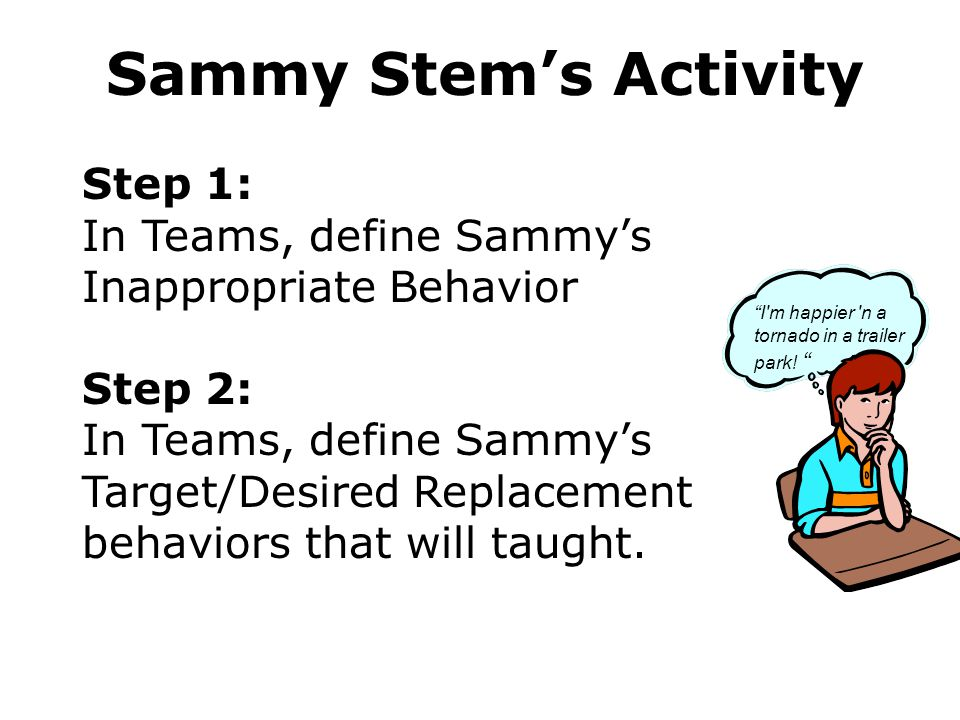 Sammy Stem's Activity Step 1: