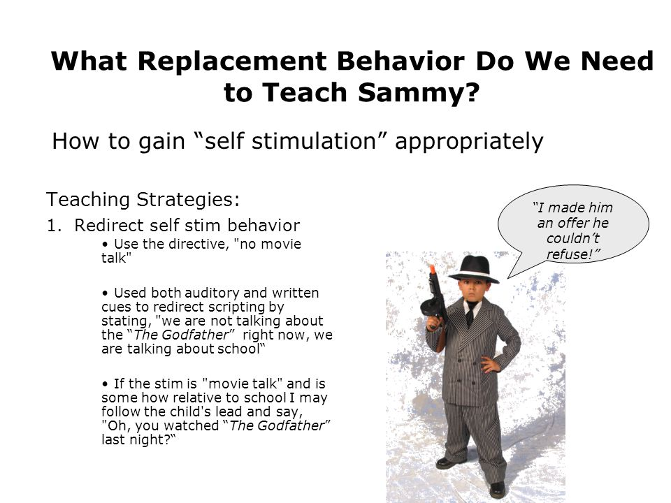 What Replacement Behavior Do We Need to Teach Sammy