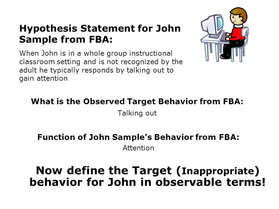 Function of John Sample's Behavior from FBA: Attention