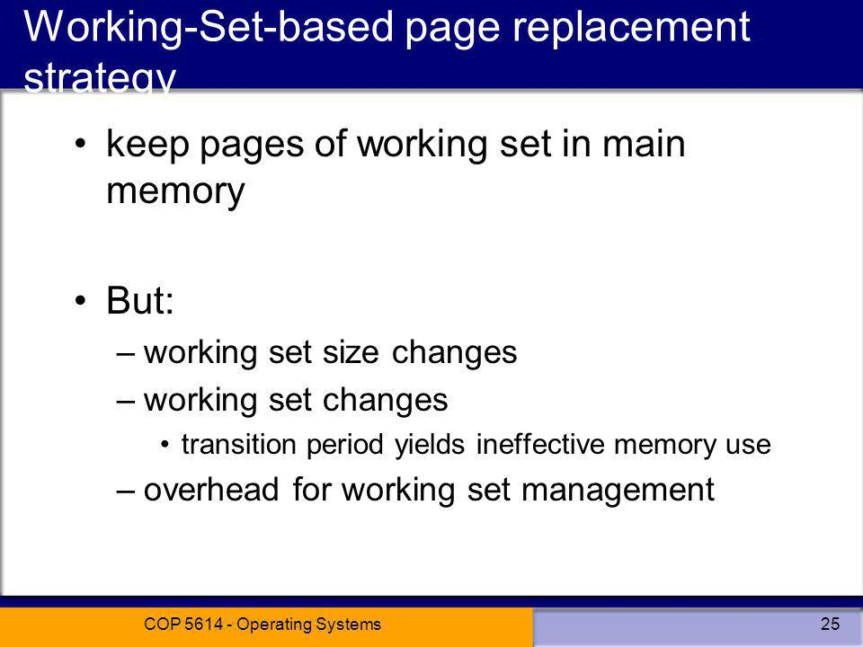 Working-Set-based page replacement strategy