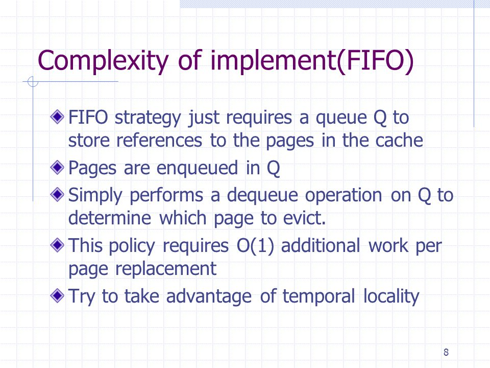 Complexity of implement(FIFO)