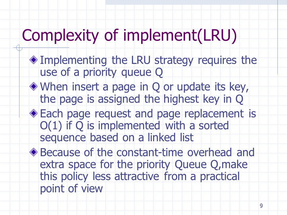 Complexity of implement(LRU)