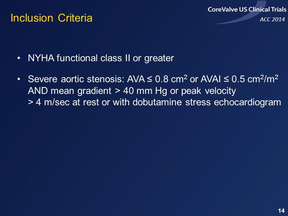 Inclusion Criteria NYHA functional class II or greater