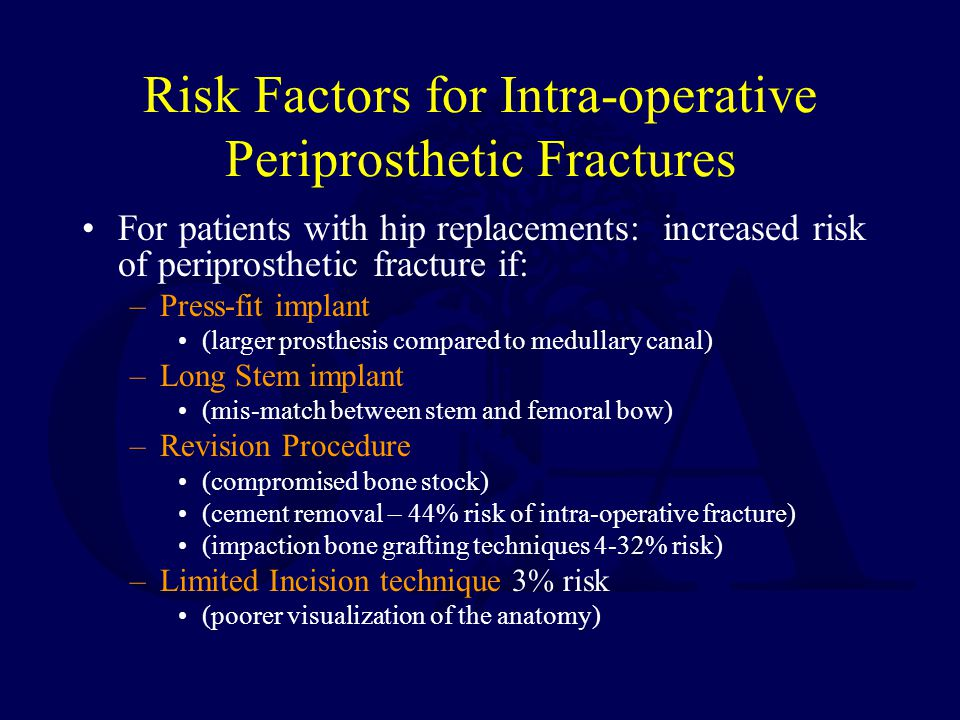 Risk Factors for Intra-operative Periprosthetic Fractures