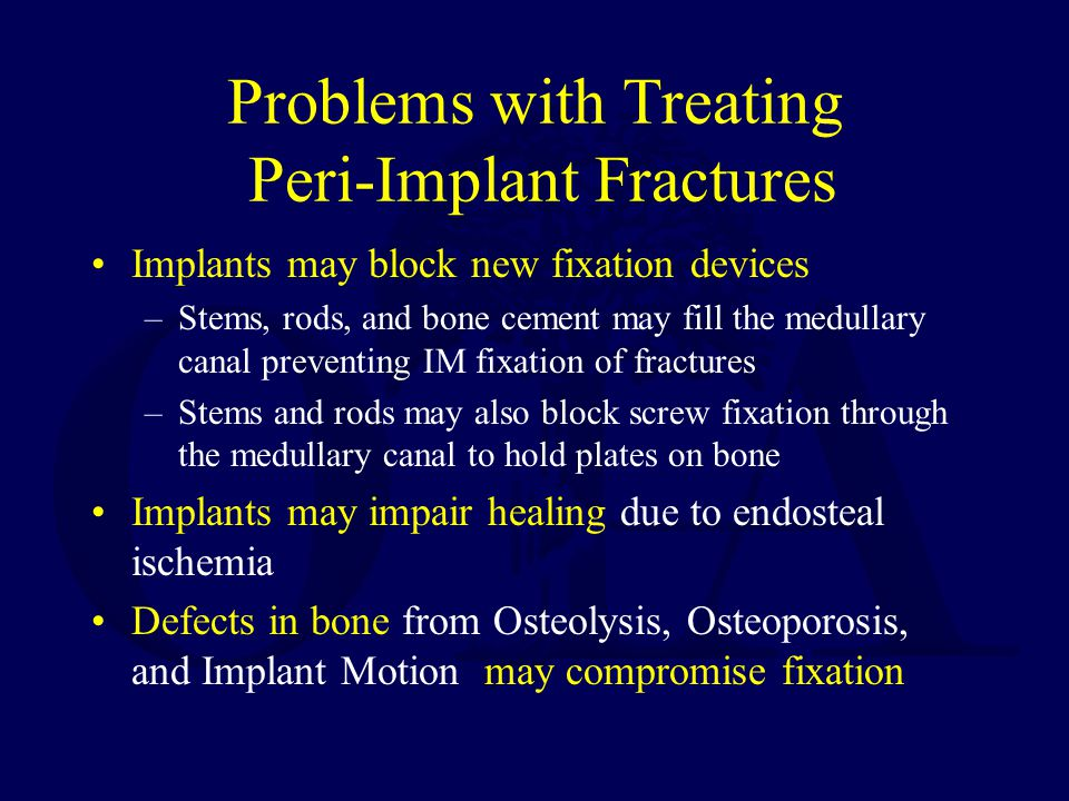 Problems with Treating Peri-Implant Fractures