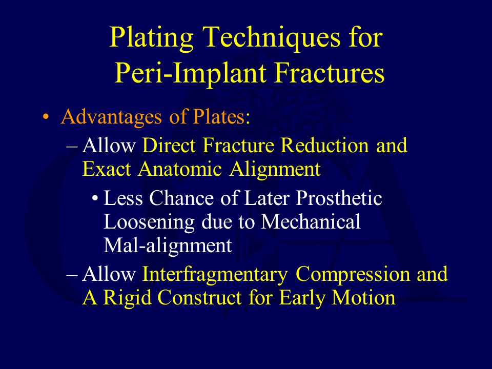 Plating Techniques for Peri-Implant Fractures