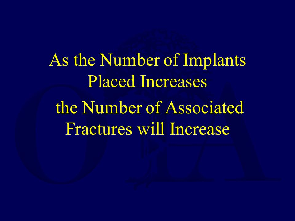 As the Number of Implants Placed Increases