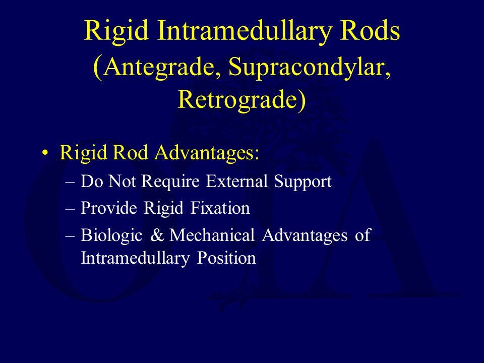 Rigid Intramedullary Rods (Antegrade, Supracondylar, Retrograde)
