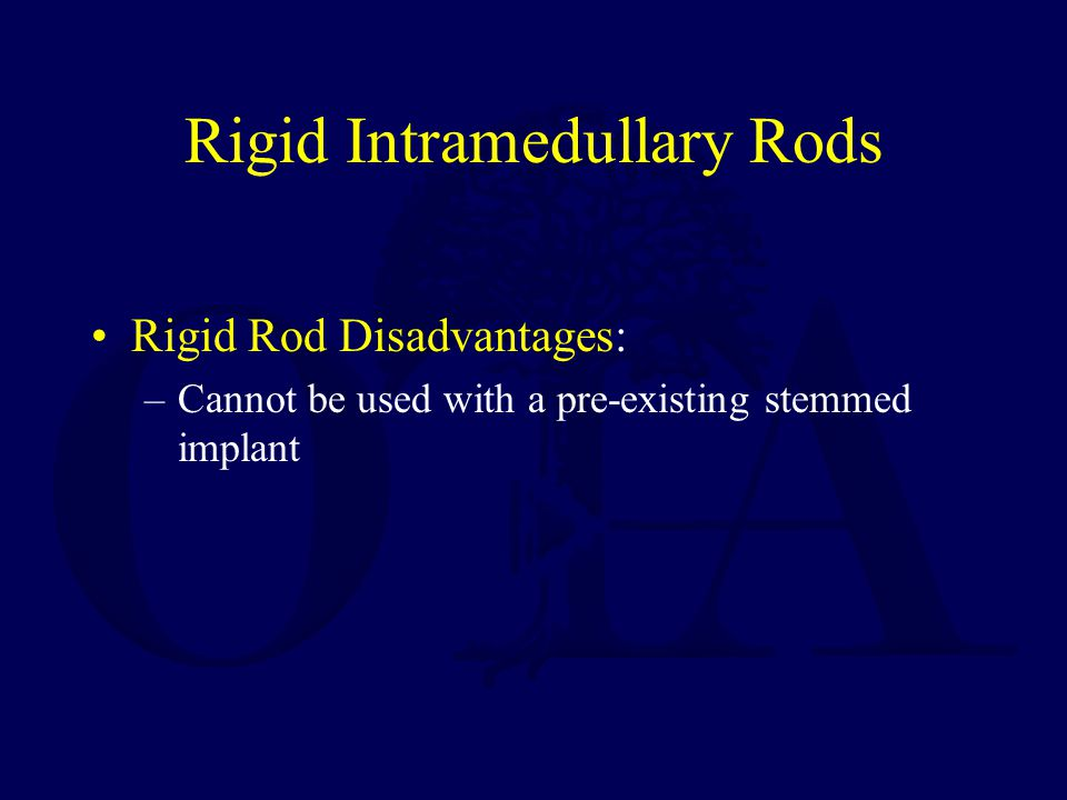 Rigid Intramedullary Rods