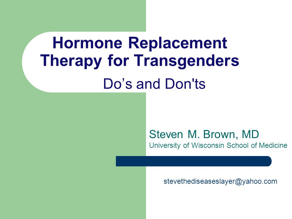 Hormone Replacement Therapy for Transgenders Do's and Don ts