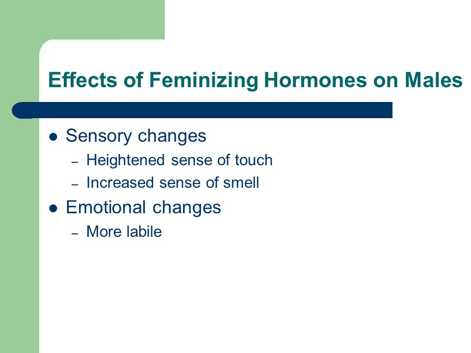 Effects of Feminizing Hormones on Males
