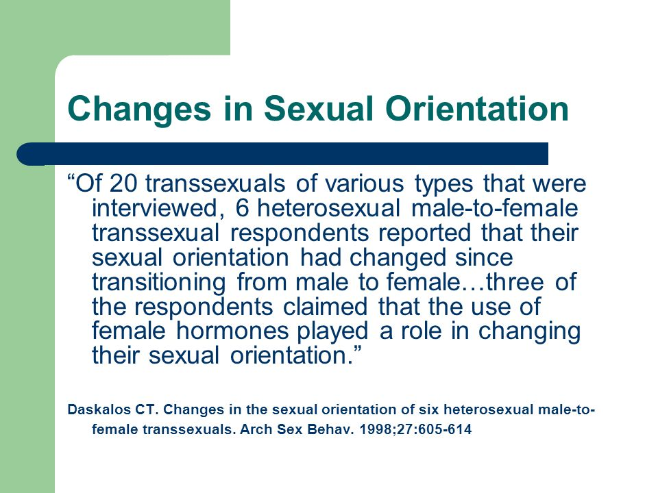 Changes in Sexual Orientation