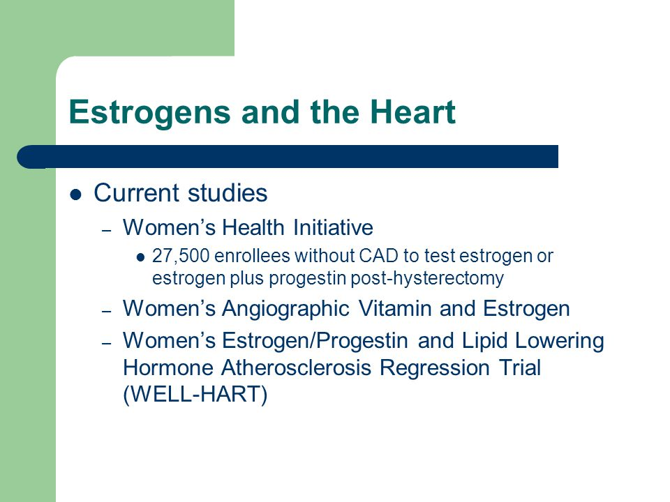 Estrogens and the Heart