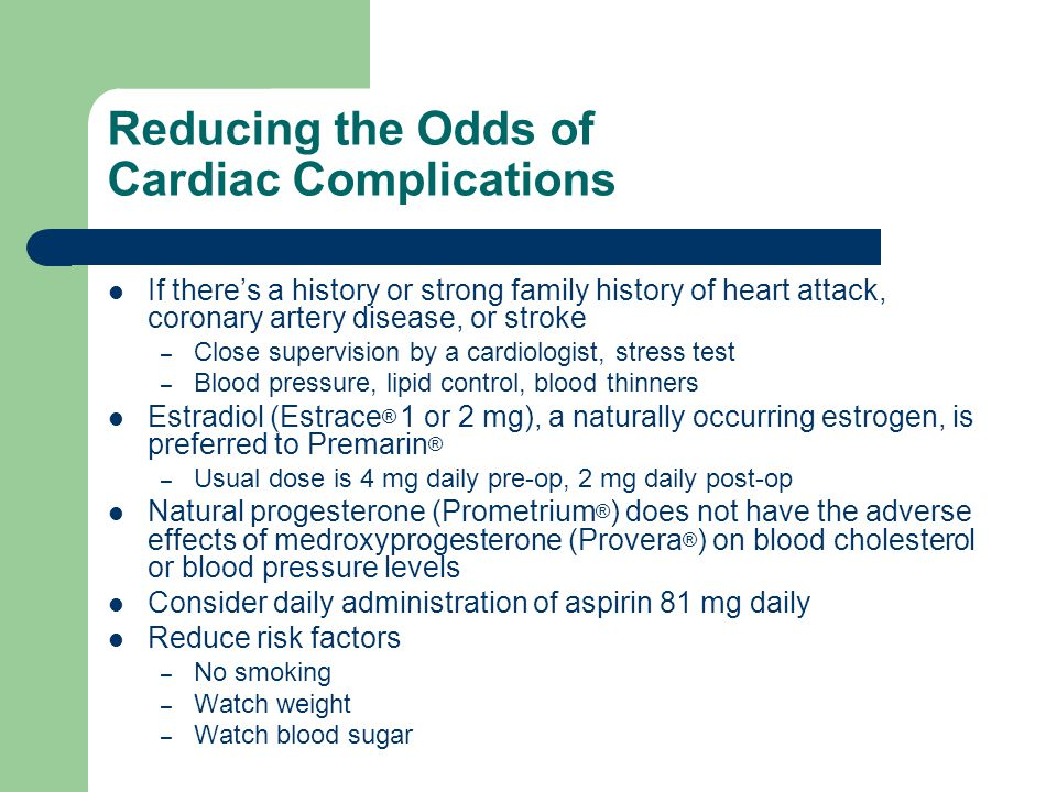 Reducing the Odds of Cardiac Complications