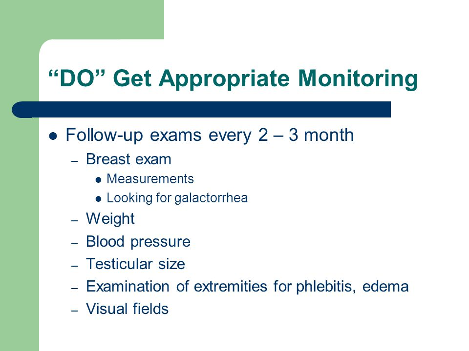 DO Get Appropriate Monitoring