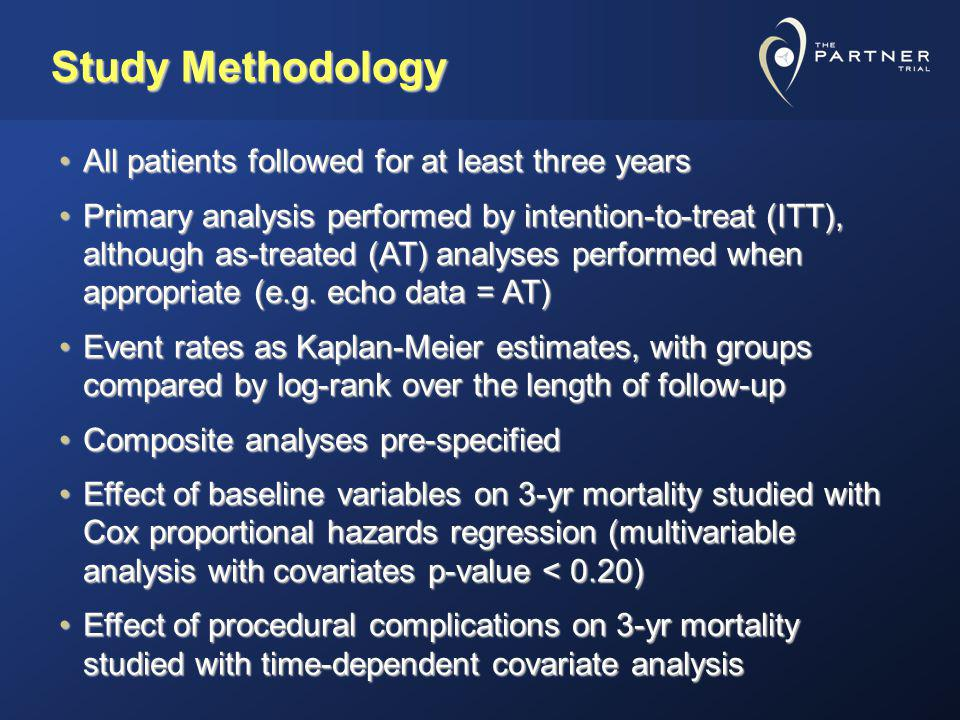 Study Methodology All patients followed for at least three years