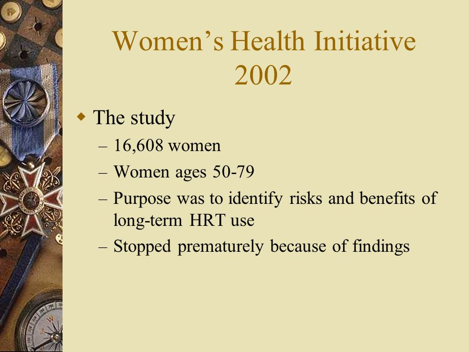 Women's Health Initiative 2002